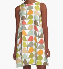 Retro 60s Midcentury Modern Pattern A-Line Dress