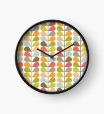 Retro 60s Midcentury Modern Pattern Clock