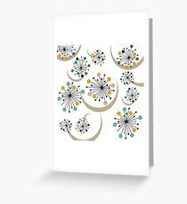 Eames Era Starbursts (White) Greeting Card