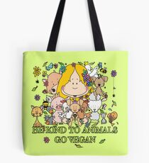 BE KIND TO ANIMALS GO VEGAN Tote Bag