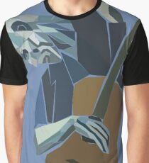 The Old Guitarist Graphic T-Shirt