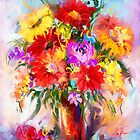 Midday flowers in vase by Mikko Tyllinen