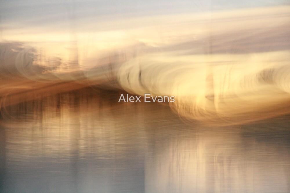 Golden Light Swirl by Alex Evans