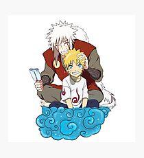 Naruto and Jiraiya Photographic Print