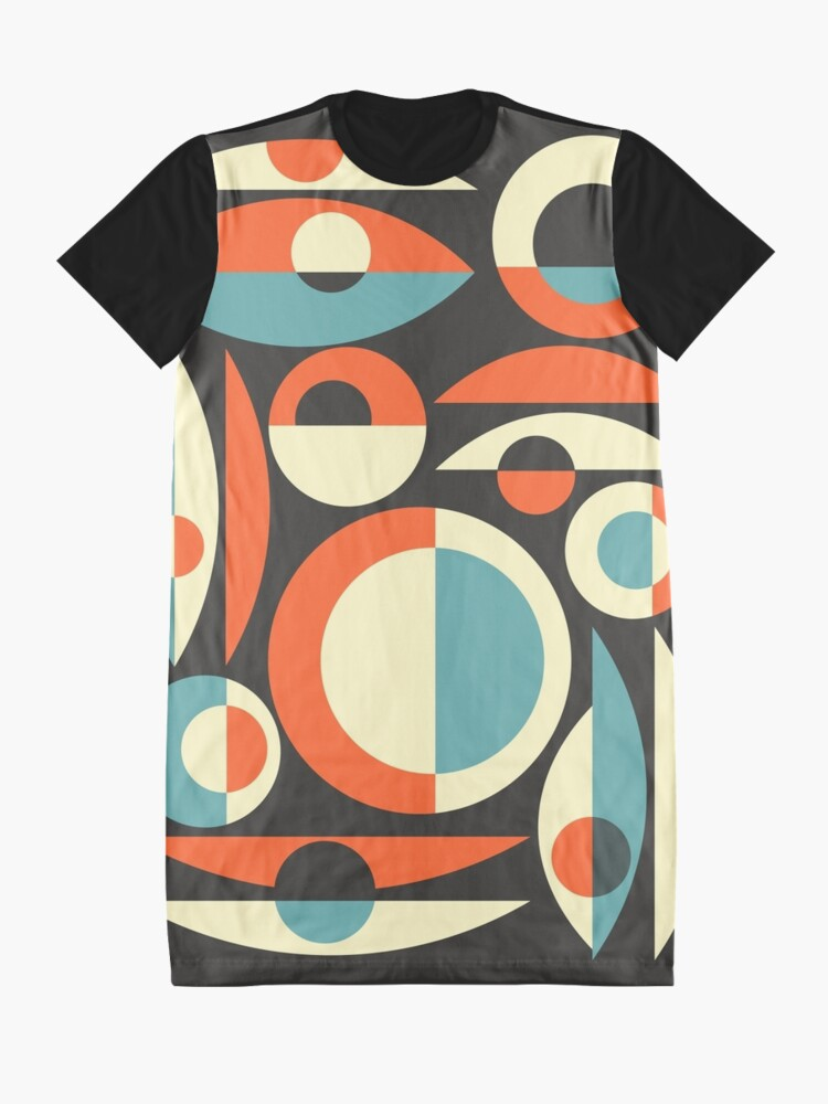 Alternate view of Retro Eames Era  Pisces Graphic T-Shirt Dress