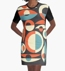 Retro Eames Era  Pisces Graphic T-Shirt Dress