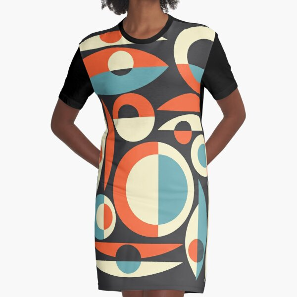 Retro Eames Era  Pisces Graphic T-Shirt Dress
