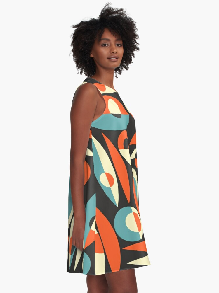 Alternate view of Retro Eames Era  Pisces A-Line Dress