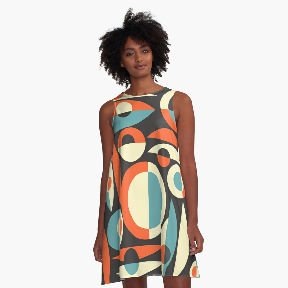 Retro Eames Era  Pisces A-Line Dress