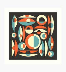 Lámina artística Retro Eames Era Piscis