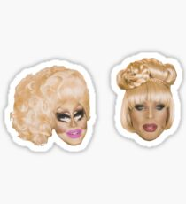 Katya & Trixie head Sticker