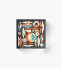 Retro Eames Era  Pisces Acrylic Block