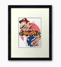 SUPER SMASH BROS REAL! Framed Print