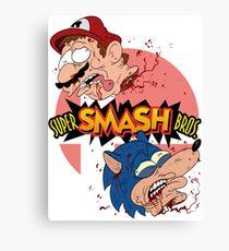 SUPER SMASH BROS REAL! Canvas Print