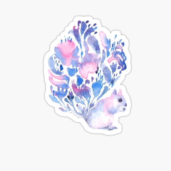 Flower tail Squirrel Sticker