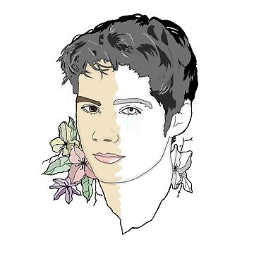 Dylan O'Brien - Flowers by rinartistic
