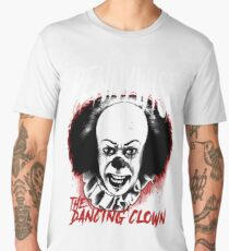 pennywise the dancing clown Classic Horror Movie Character Evil and Scary Metal Band Style Tee Men's Premium T-Shirt