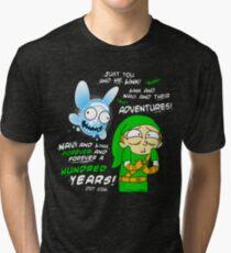 Navi Rick and Link Morty Tri-blend T-Shirt