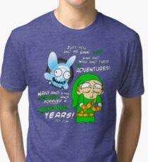 Navi Rick and Link Morty Tri-blend T-Shirt