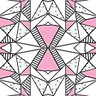 Abstraction Spots and Stripes Pink by ProjectM