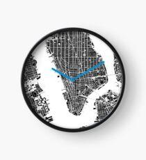 Reloj New York city map black and white