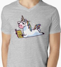 Unicorn Believe in Yourself Magically Fabulous II Men's V-Neck T-Shirt
