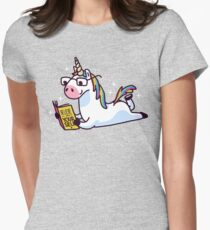 Unicorn Believe in Yourself Magically Fabulous II Women's Fitted T-Shirt