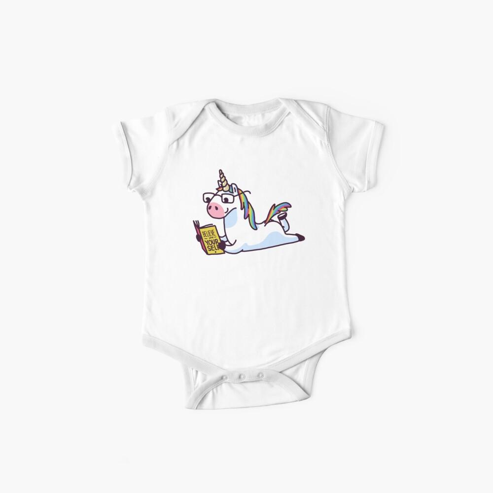 Unicorn Believe in Yourself Magically Fabulous II Baby One-Piece