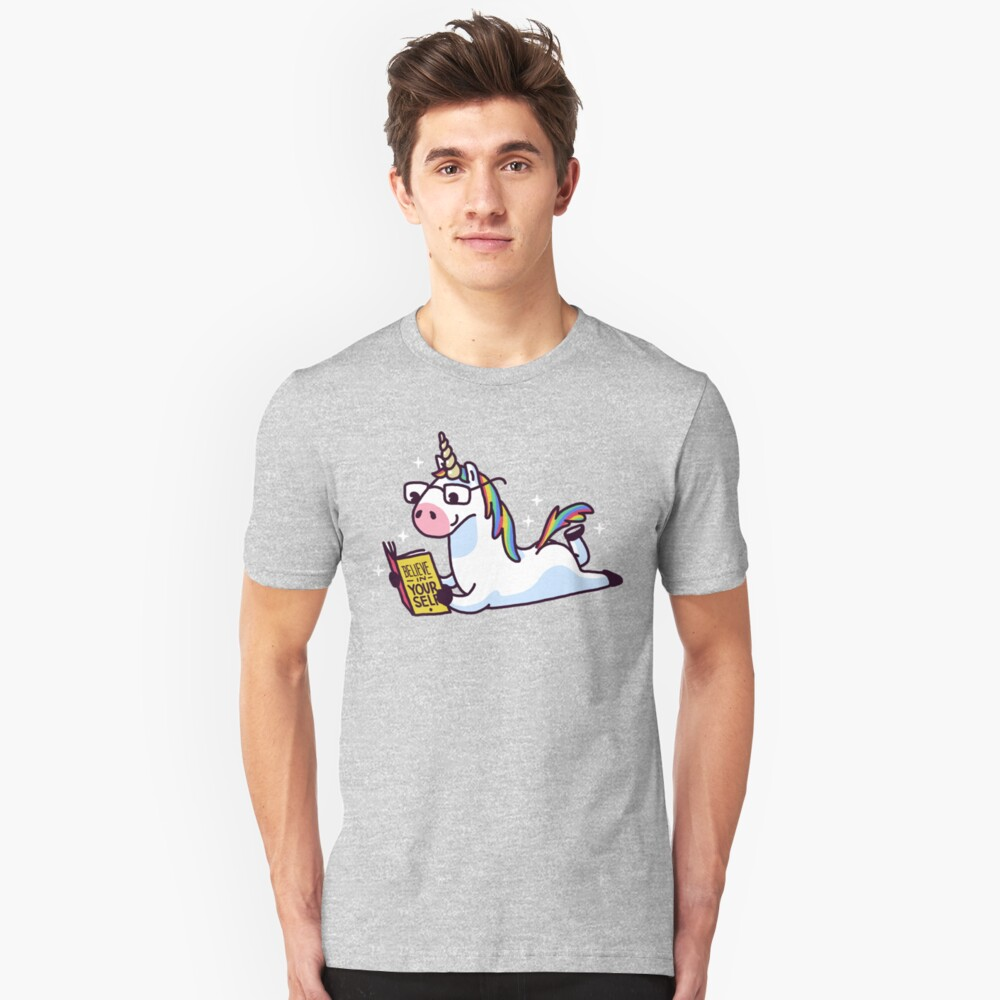 Unicorn Believe in Yourself Magically Fabulous II Unisex T-Shirt Front