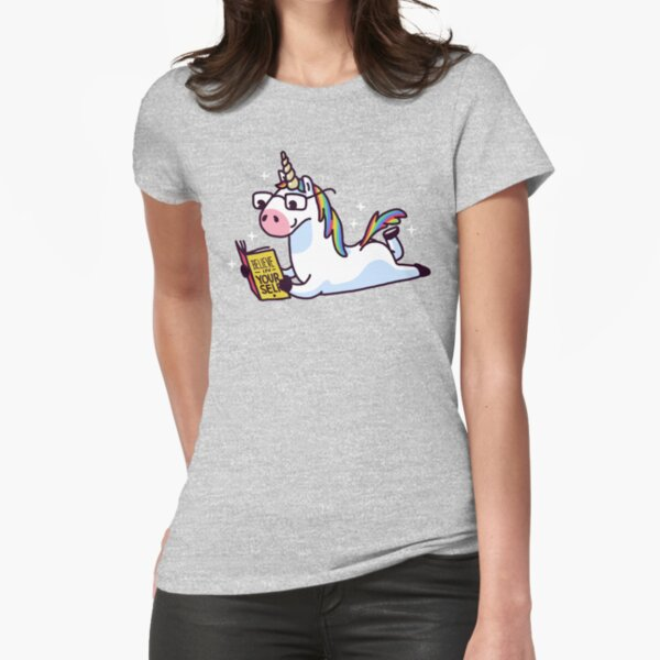 Unicorn Believe in Yourself Magically Fabulous II Fitted T-Shirt