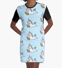Unicorn Believe in Yourself Magically Fabulous II Graphic T-Shirt Dress