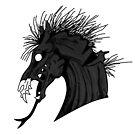 Schwarzes Dämonen-Pferd von kijkopdeklok