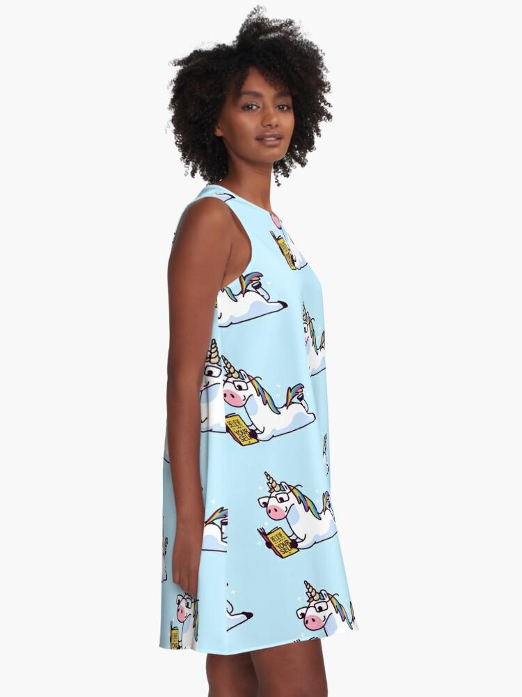 Alternative Ansicht von Einhorn glauben an sich magisch fabelhaft II A-Linien Kleid