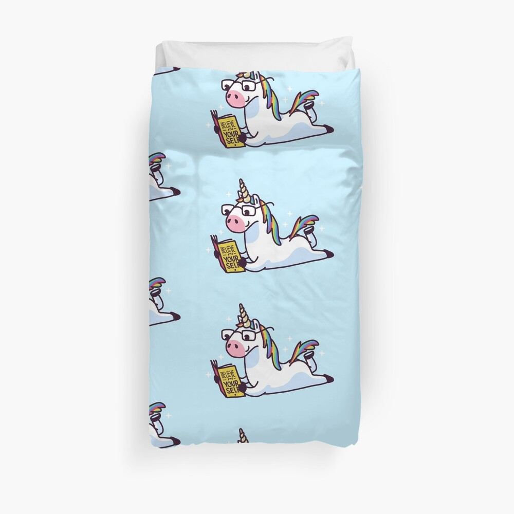 Unicorn Believe in Yourself Magically Fabulous II Duvet Cover