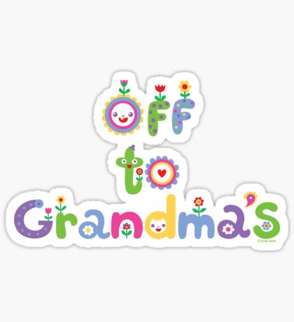 Off To Grandma's 2  Sticker