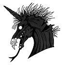 Schwarzes Dämon-Einhorn von kijkopdeklok