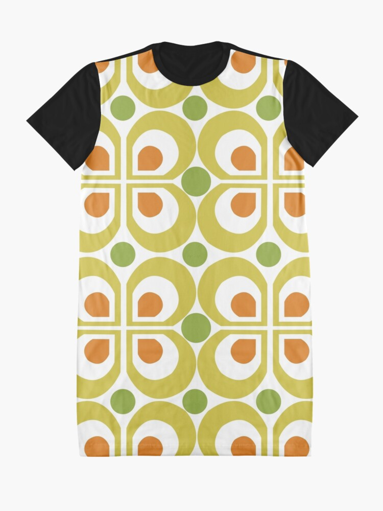 Alternate view of Retro 60s Pattern Graphic T-Shirt Dress