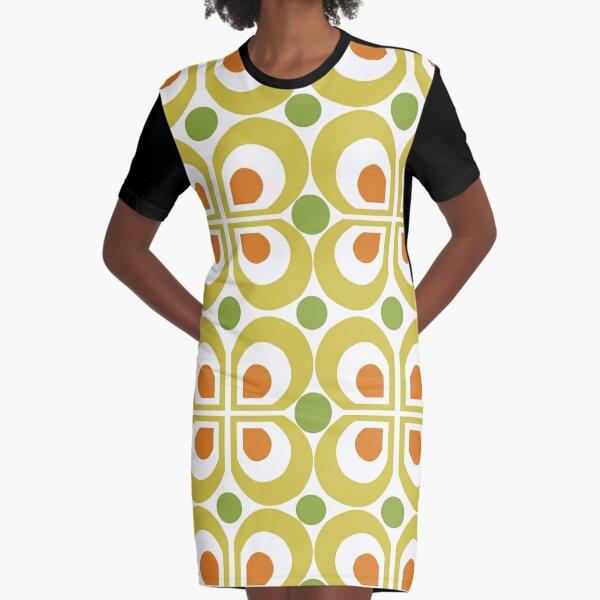 Modèle rétro des années 60 Robe t-shirt