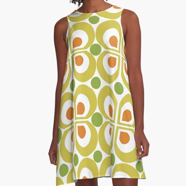 Retro 60s Pattern A-Line Dress