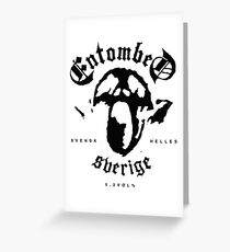Entombed (Black) Greeting Card
