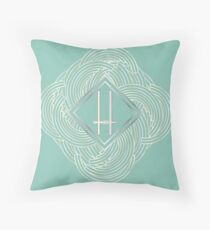 1920s Blue Deco Swing with Monogram letter H Throw Pillow