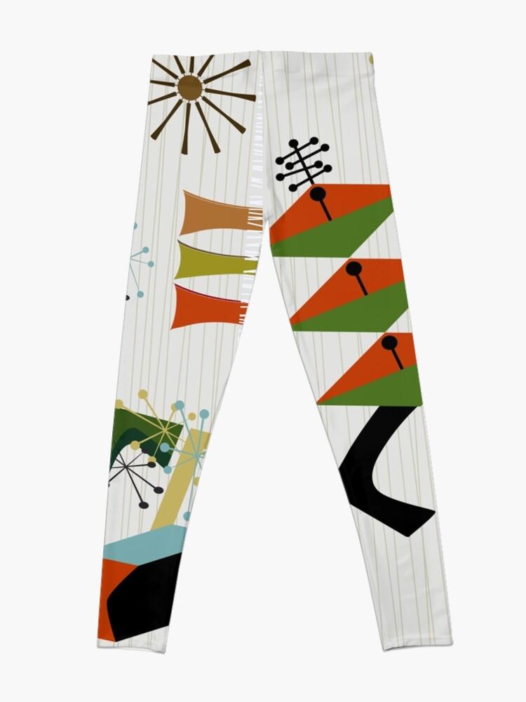 Alternate view of Retro Eames-Era Atomic Inspired Leggings