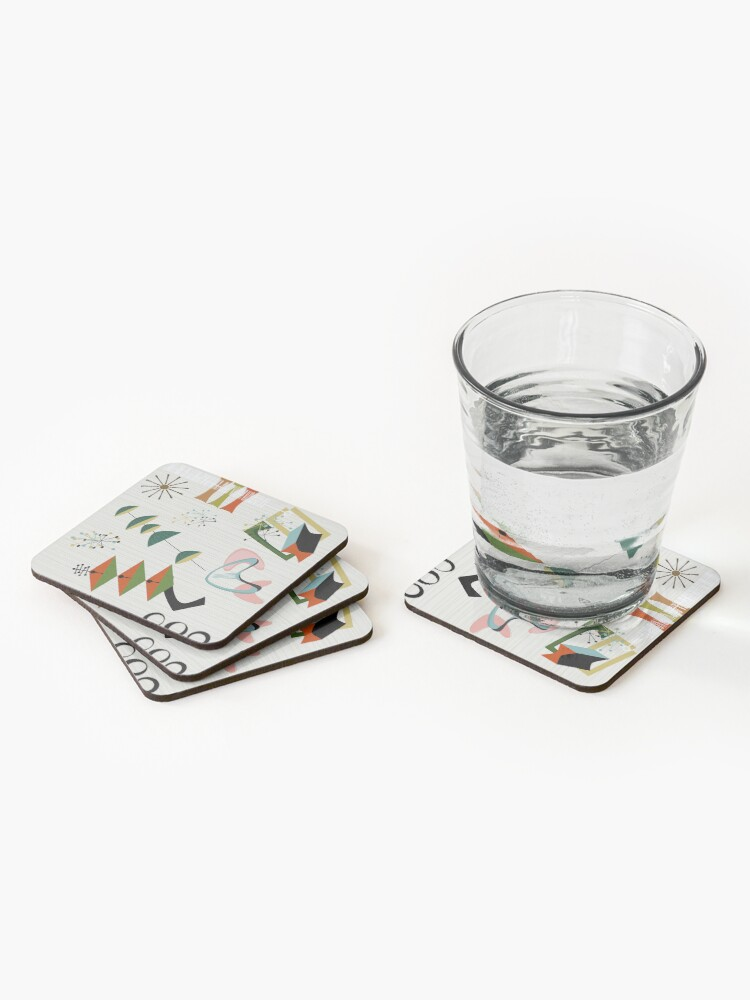 Alternate view of Retro Eames-Era Atomic Inspired Coasters (Set of 4)