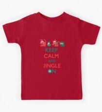 Keep Calm and Jingle On Kids Tee