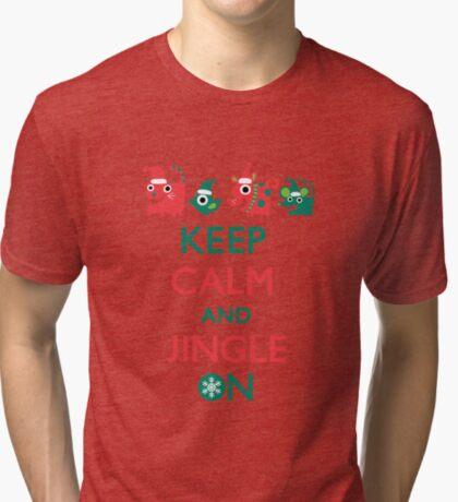 Keep Calm and Jingle On Tri-blend T-Shirt