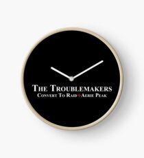 White team logo for darker things Clock