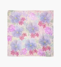 Spring flowers in purple, blue and pink Scarf