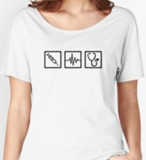 Medical equipment stethoscope syringe Women's Relaxed Fit T-Shirt