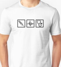 Medical equipment stethoscope syringe Unisex T-Shirt