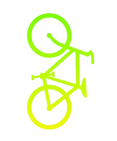 Neon Green Bicycle by segrob